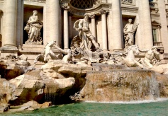 Trevi Fountain, a classic. Yes, I tossed my coin. Patience until my return.. March 2014. - Rome, Italy