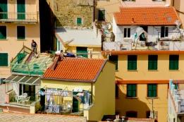 Rooftops. April 2015. - Riomaggiore, Italy