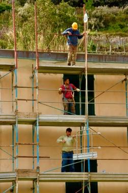 Construction lines. April 2015. - Riomaggiore, Italy
