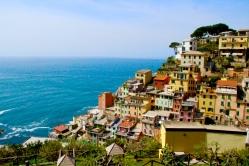 Colour. One of the five fishing villages of Cinque Terre. April 2015. - Riomaggiore, Italy